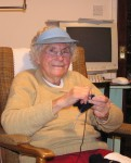 Edith Skipper, 89, with her computer