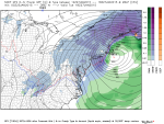 By Tuesday morning… Bombogenesis.  The Hudson Valley continues to be plastered by heavy snow and wind.  Travel anywhere from Atlantic City NJ to southern Maine will be impossible.  Snowfall rates of 2 to 4 inches per hour will be common.  Blizzard Conditions across New England will drift the snow over 5 to 7 feet.